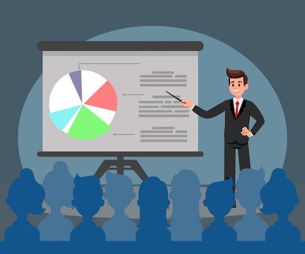 Illustration de vecteur plat présentation entreprise Vecteur Premium