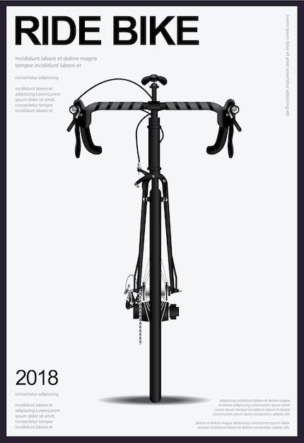 Illustration vectorielle affiche vélo Vecteur Premium