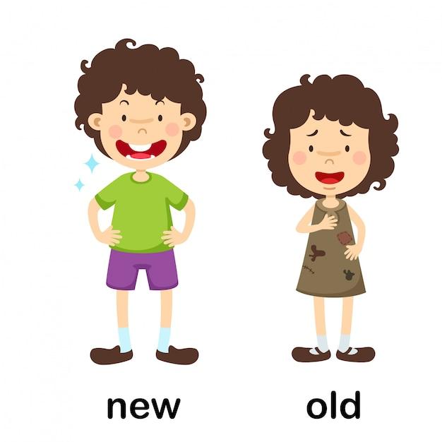 Illustration vectorielle ancienne et ancienne opposée Vecteur Premium