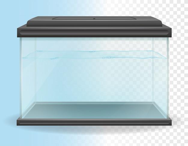 Illustration vectorielle aquarium transparent Vecteur Premium