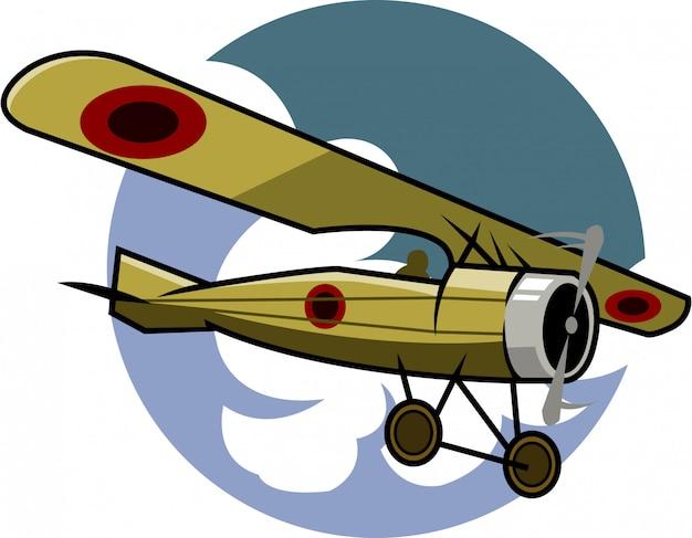 Illustration vectorielle d'avion classique Vecteur Premium