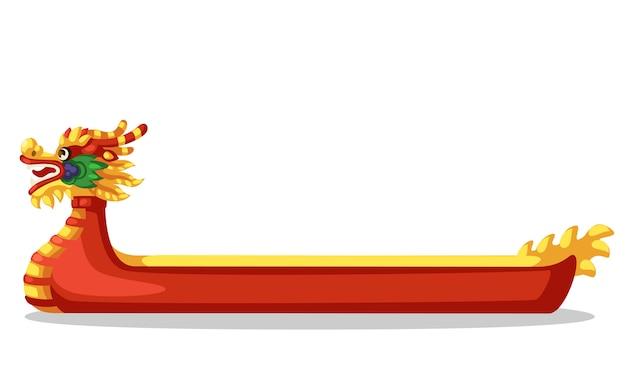 Illustration vectorielle de bateau-dragon Vecteur Premium