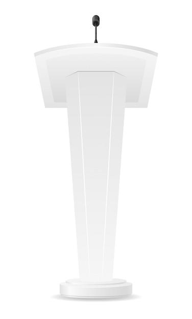 Illustration vectorielle blanc tribune vide Vecteur Premium