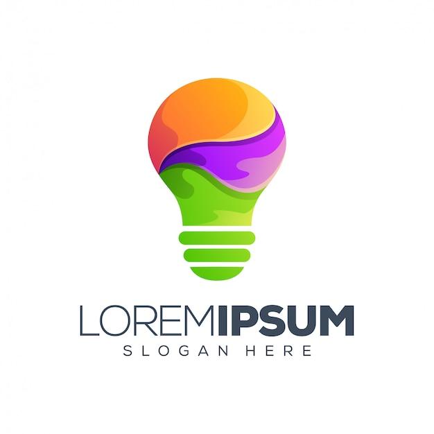 Illustration vectorielle de blub logo design Vecteur Premium