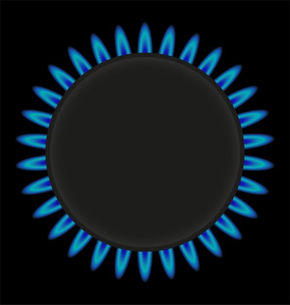 Illustration vectorielle de brûlant anneau gaz cuisinière Vecteur Premium