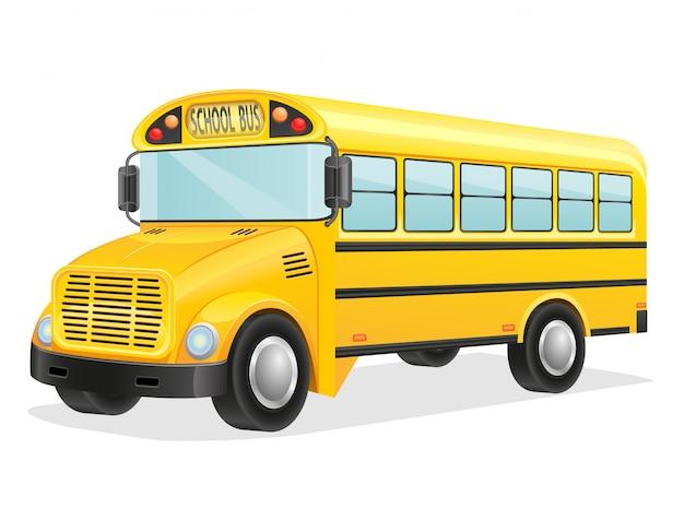 Illustration vectorielle de bus scolaire Vecteur Premium