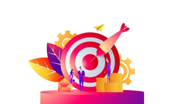 Illustration vectorielle de business concept Vecteur Premium