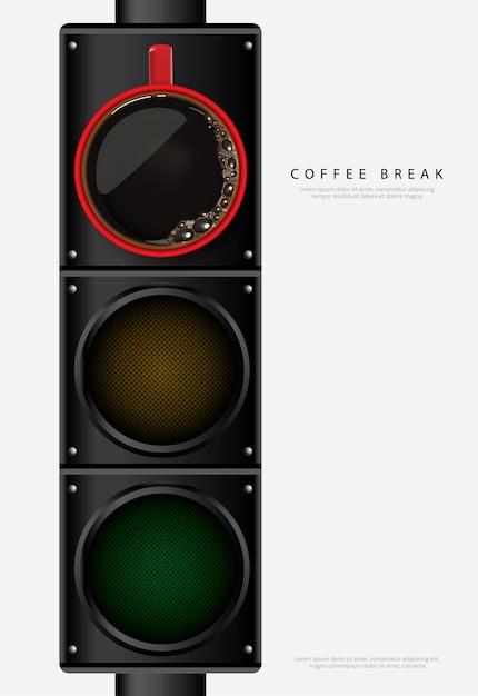 Illustration Vectorielle De Café Affiche Publicité Flayers Vecteur Premium