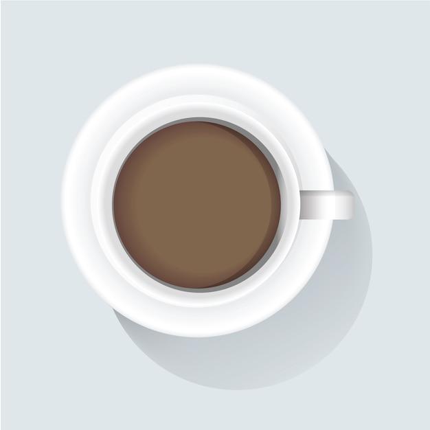 Illustration Vectorielle De Café Icône Vecteur gratuit