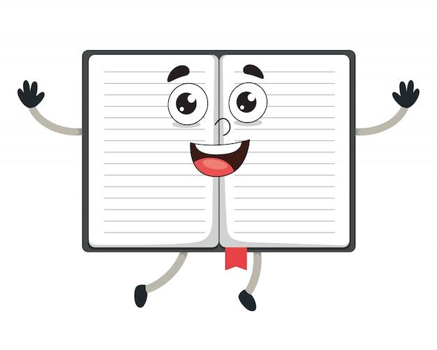 Illustration vectorielle de cahier de dessin animé Vecteur Premium