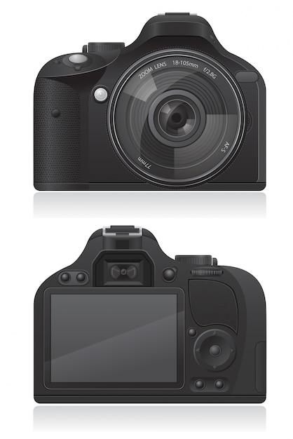 Illustration vectorielle de caméra photo Vecteur Premium