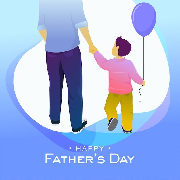 Illustration vectorielle de carte de voeux bonne fête des pères Vecteur Premium