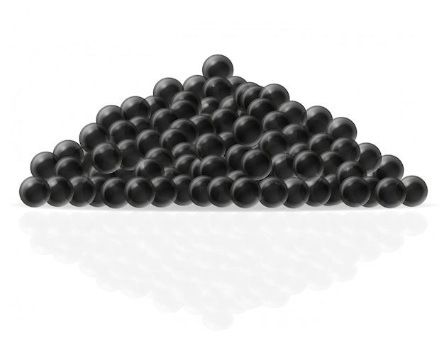 Illustration vectorielle de caviar noir Vecteur Premium