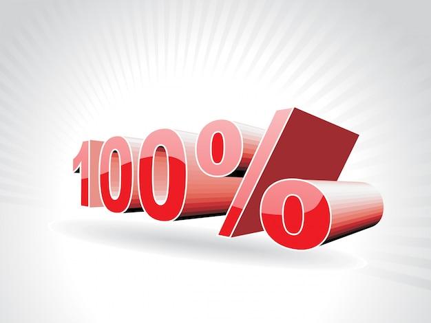 Illustration vectorielle de cent pour cent Vecteur gratuit