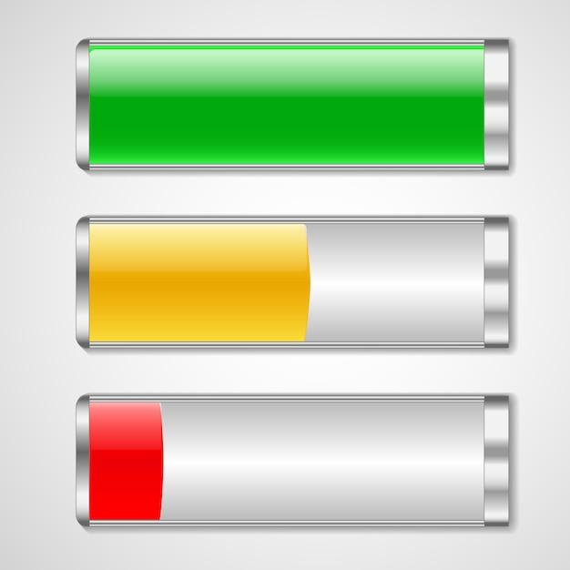 Illustration vectorielle de charge de la batterie Vecteur Premium