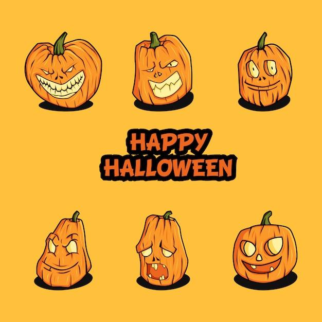 Illustration vectorielle de citrouille d'halloween Vecteur Premium