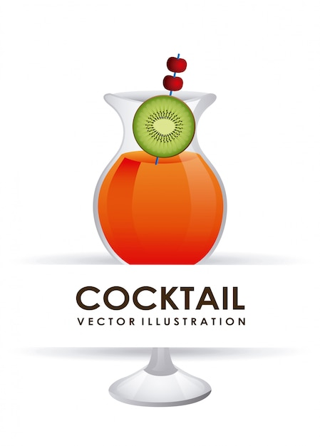 Illustration vectorielle cocktail design graphique Vecteur gratuit