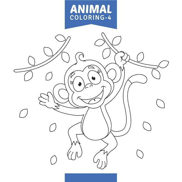 Illustration vectorielle de la coloration des animaux Vecteur Premium