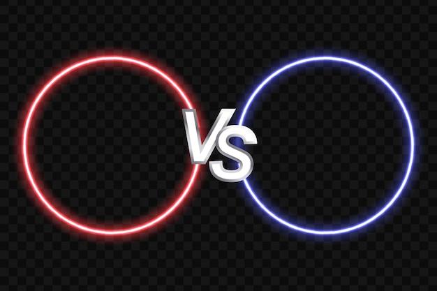 Illustration vectorielle coloré de deux formes rondes sur fond noir Vecteur Premium