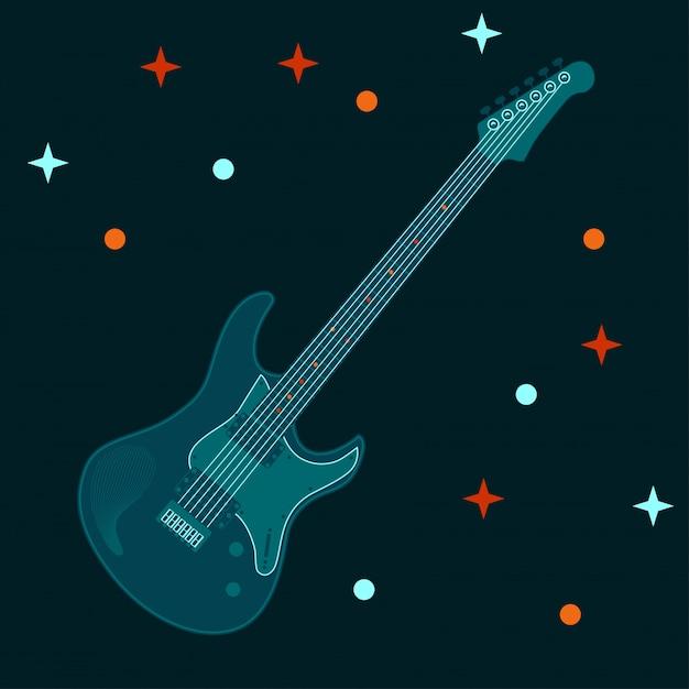 Illustration Vectorielle De La Conception D'un Instrument électrique Guitare Vecteur Premium
