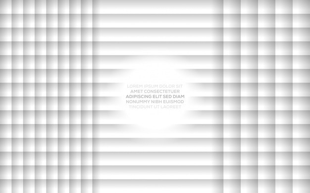 Illustration vectorielle de conception moderne dynamique créative abstraite créative avec fond abstrait blanc gris Vecteur Premium