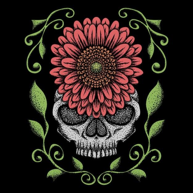 Illustration vectorielle de crâne rose décoration Vecteur Premium