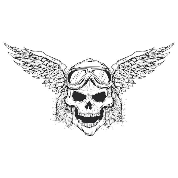 Illustration Vectorielle De Crâne Vecteur gratuit
