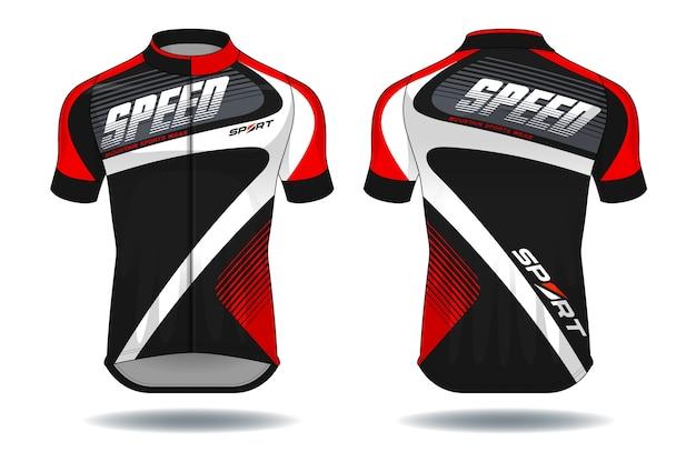 Illustration Vectorielle De Cycle Jersey.sport Wear Protection Equipment. Vecteur Premium