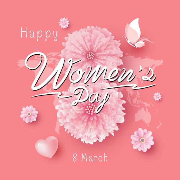 Illustration vectorielle du 8 mars women's day Vecteur Premium