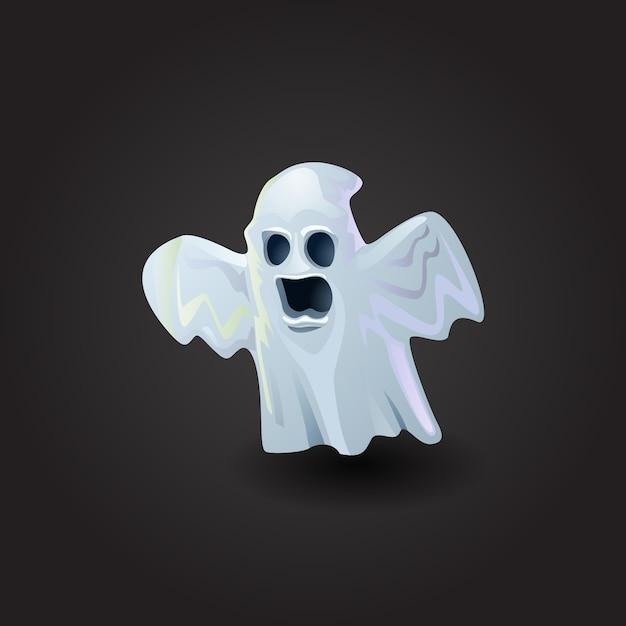 Illustration vectorielle fantôme effrayant Vecteur gratuit