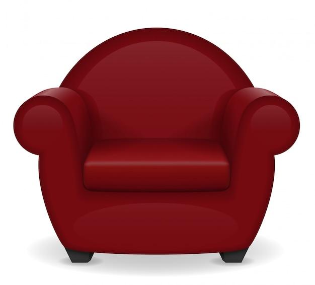 Illustration vectorielle de fauteuil rouge mobilier Vecteur Premium
