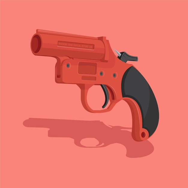 Illustration vectorielle flare gun Vecteur Premium