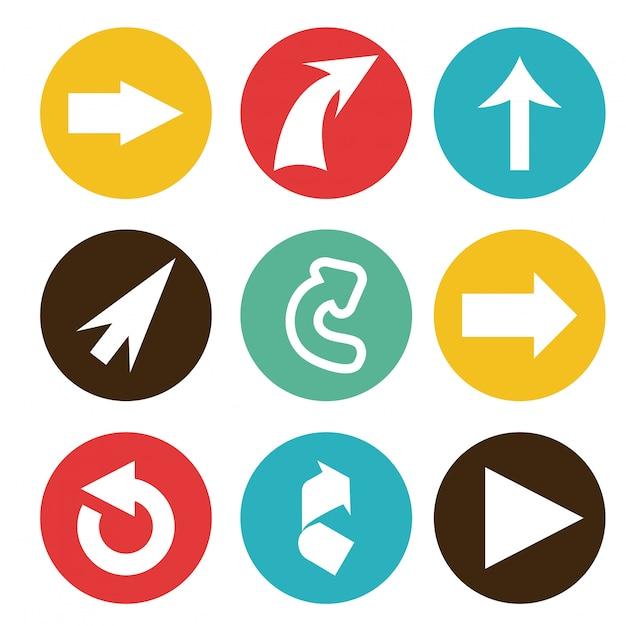 Illustration vectorielle de flèche design graphique Vecteur Premium
