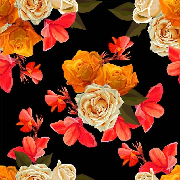Illustration vectorielle floral beau fond Vecteur Premium