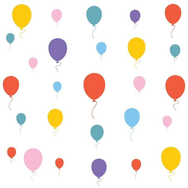 Illustration vectorielle de fond de ballons Vecteur Premium