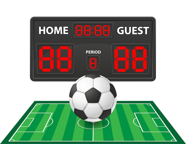 Illustration vectorielle de football soccer sport tableau de bord numérique Vecteur Premium
