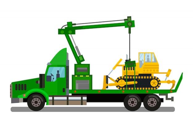 Illustration vectorielle de fret transport entreprise Vecteur Premium