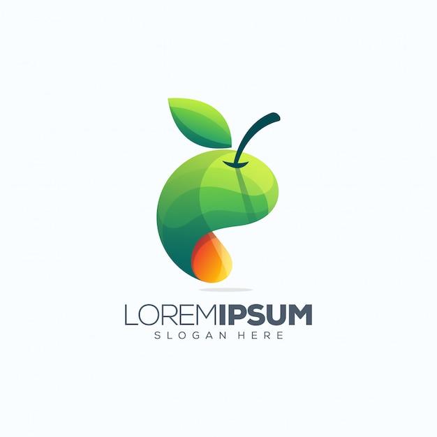 Illustration vectorielle de fruits logo design Vecteur Premium
