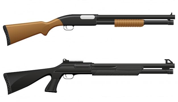 Illustration vectorielle de fusil de chasse Vecteur Premium