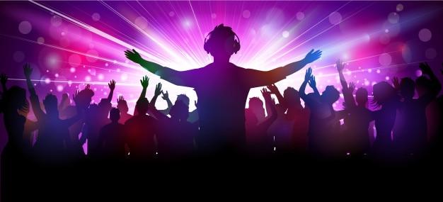 Illustration vectorielle des gens du parti au club Vecteur Premium