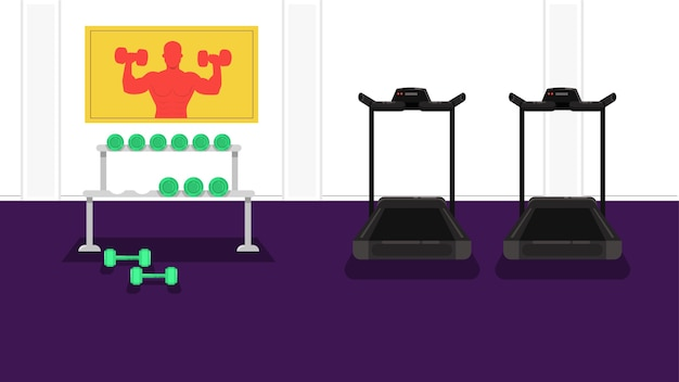 Illustration vectorielle de gym fond Vecteur Premium