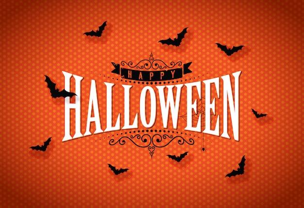 Illustration vectorielle halloween heureux Vecteur Premium