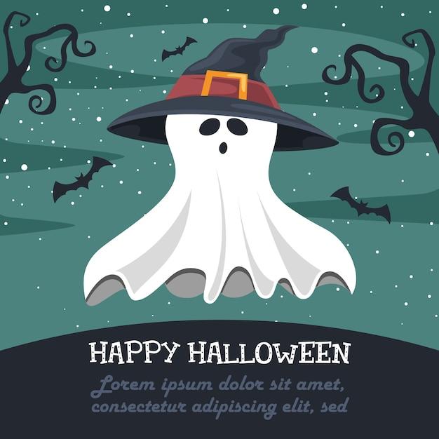 Illustration vectorielle d'halloween Vecteur Premium