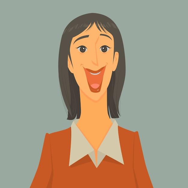Illustration vectorielle d'homme d'affaires excité Vecteur Premium