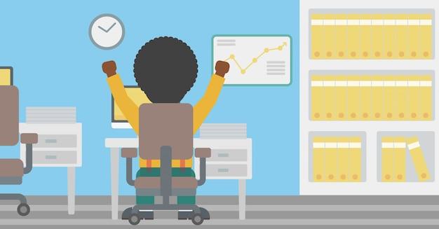 Illustration vectorielle d'homme d'affaires prospère. Vecteur Premium