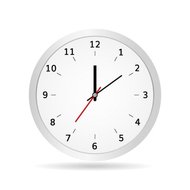 Illustration vectorielle d'horloge de bureau classique blanc Vecteur Premium