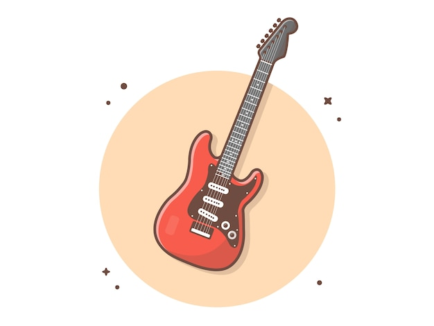 Illustration Vectorielle D'icône De Guitare électrique Vecteur Premium