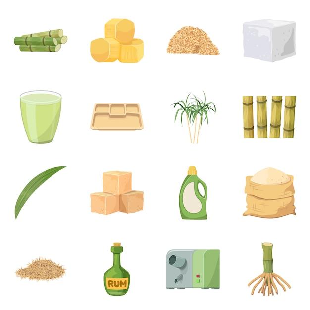 Illustration vectorielle d'icône naturelle et de la production. ensemble de symbole boursier naturel et biologique pour le web. Vecteur Premium
