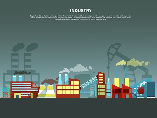 Illustration vectorielle de l'industrie concept Vecteur gratuit