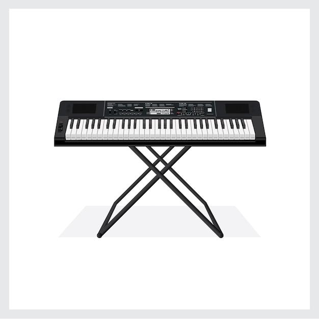 Illustration vectorielle instrument à clavier Vecteur Premium